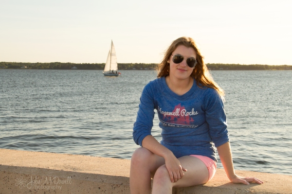 sunset sailboat portrait