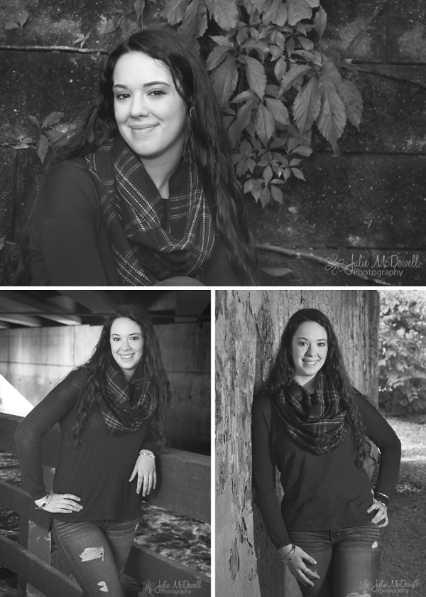 senior girl grad photos black and white